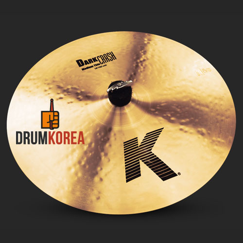 [드럼코리아 1599-3867] Zildjian - K DARK MEDIUM THIN 크래쉬