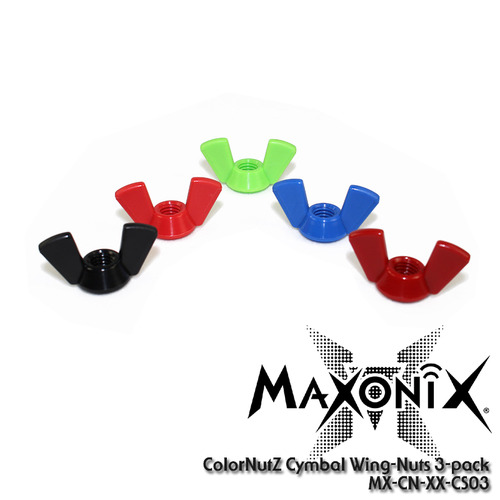 [드럼코리아 1599-3867] MaxOnix ColorNutZ™ Cymbal Wing-Nuts (3pcs) /MX-CN-XX-CS03/윙넛
