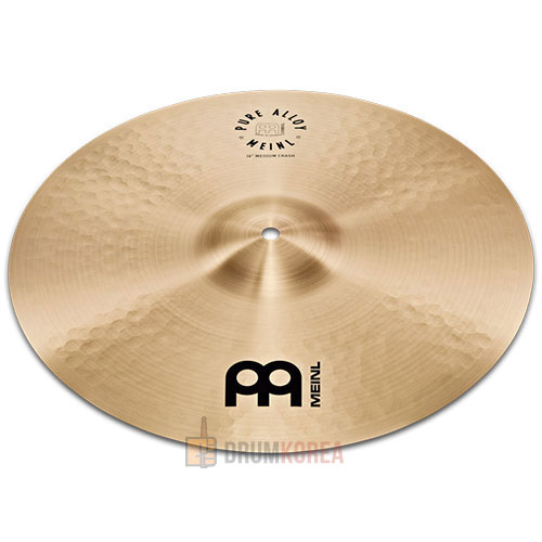 [드럼코리아 1599-3867] Meinl - Pure Alloy Medium Crash Traditional 크래쉬 심벌